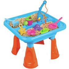 17 Piece Sand & Fishing Table Play Set