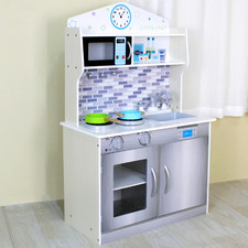 Kids White 2 Door Kitchen Playset