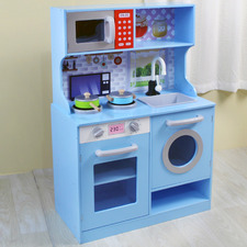 Kids Sky Blue Kitchen Playset