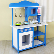 Kids Ocean Blue Single Door  Kitchen Playset