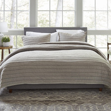 Oyster ED Marmont Cotton Coverlet Set