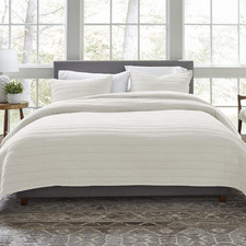 White ED Marmont Cotton Coverlet Set