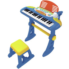 Electronic Keyboard with Stand & Stool