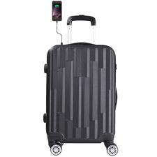 50cm Hard Case Luggage with USB Port