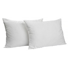 White Sophie Duck Feather & Down Pillows (Set of 2)