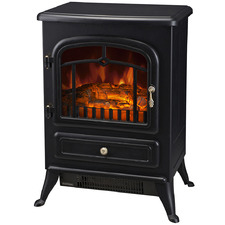 Black Freestanding Electric Fireplace Heater