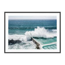 Bondi Crash Framed Print