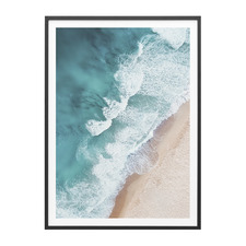 Aerial Beach Framed Print