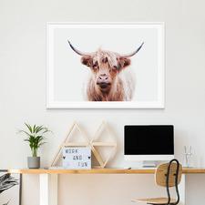Duncan Highland Cow Framed Print