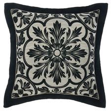 Black Giovanni Cotton-Blend European Pillowcase