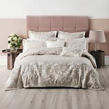 Natural Coralie Cotton-Blend Quilt Cover Set