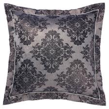 Navy Yvette Cotton-Blend European Pillowcase