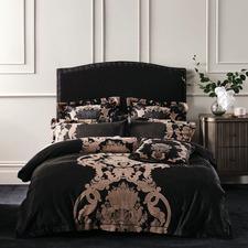 Black Dionisia Cotton-Blend Quilt Cover Set