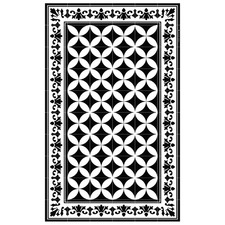 Black & White Sofi Vinyl Floor Mat