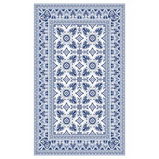 Blue Bella Vinyl Floor Mat
