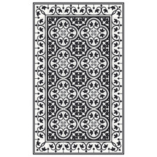 Black & White Portugal Vinyl Floor Mat