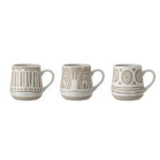 3 Piece Bohème Stoneware Mug Set