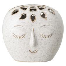 White Face Stoneware Vase
