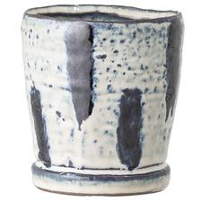 Indigo & White Stoneware Planter