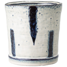 14cm Cream & Navy Ceramic Planter
