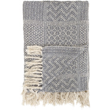 Grey Cecily Recycled Cotton Throw