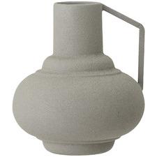 Grey Metal Vase