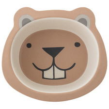 Kids' Smiling Bear Bamboo Dinner Bowl
