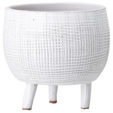 White Casper Ceramic Planter