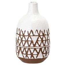 White & Brown Ceramic Vase