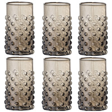 Brown 250ml Drinking Glasses (Set of 6)