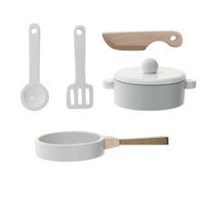 Kids' Wooden Cookware Set