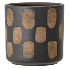 Black Deco Terracotta Plant Pot
