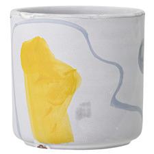 White Deco Terracotta Flowerpot