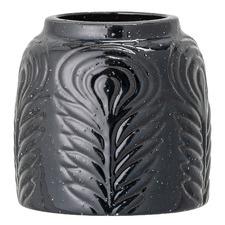 Black Itiel Stoneware Vase