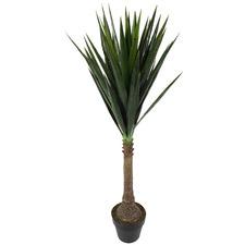 Potted Faux Dracaena Plant