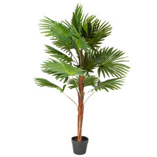120cm Potted Faux Palm Tree