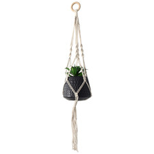 Xavier Cotton Hanging Pot with Faux Plant