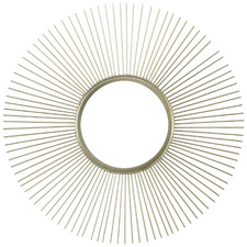Gold Luna Round Wall Mirror