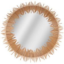 Nha Trang Round Wooden Wall Mirror