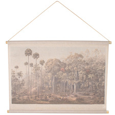 Natural Vintage-Style Forest Canvas Wall Hanging