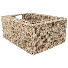 3 Piece Natural Mackay Seagrass Basket Set