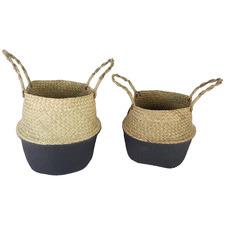 2 Piece Byron Seagrass Basket Set