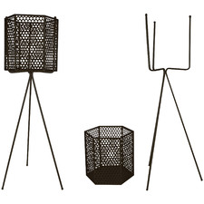 2 Piece Adele Metal Tripod Planter Set
