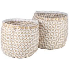 2 Piece Ginkgo Seagrass Basket Set
