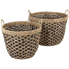 2 Piece Cypress Seagrass Basket Set