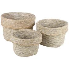 3 Piece Whitehaven Seagrass Basket Set