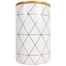 Gio 960ml Ceramic Canister with Bamboo Lid
