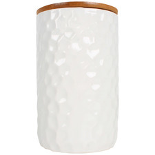 Dimple Olivia 960ml Ceramic Canister with Bamboo Lid