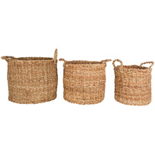 3 Piece Round Yamba Seagrass Basket Set