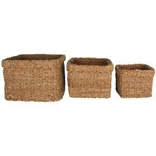 3 Piece Square Yallingup Seagrass Basket Set